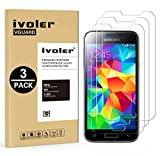 ivoler [Pack de 3] Verre Trempé Compatible avec Samsung Galaxy S5 Mini, Film...