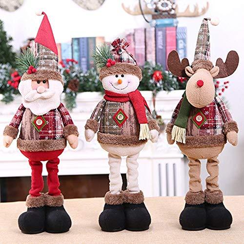 MICHAELA BLAKE 60cm de Santa Claus muñeco de Nieve Navidad muñecas para Party Supplies decoración del hogar retráctil Fiesta de cumpleaños de Juguete Que se coloca Regalo Festival de Niños