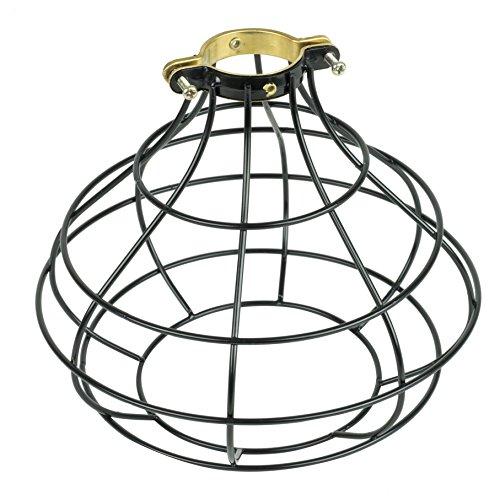 Rustic Design Industrial Look Sphere Pendant Lamp Cage by ArtifactDesign Black