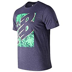 New Balance Camiseta NB Heathertecht Color Negro para Hombre