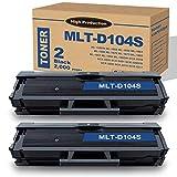 MLT-D104S (2-Pack) Black Toner Cartridge Replacement for Samsung ML-1660/N 1665 1655 1661 1666 SCX-3200 3201 3205/W 3218 Printers,by Lutyeink.