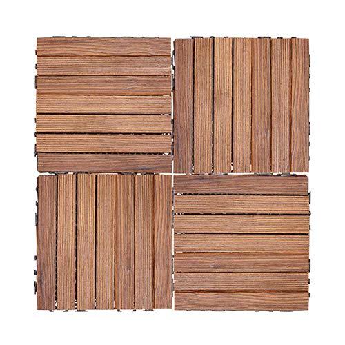Good KK Holzböden, Easy Lock Nachhaltige Versorgung Fliesen für ineinandergreifende Böden aus massivem Albizia-Holz, Holzfarbe , 1 * Stck