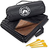 ECO FUTURE Picnic Blanket Waterproof - Large Weatherproof Quilt for Indoor and Outdoor - Outdoor Blanket, Picnic Mat, Beach Blanket, Picnic Blanket - 4 Tent Stakes and Portable Pouch