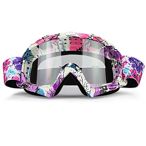 Clear Lens Dirt Bike Motorcycle Goggles ATV Racing Motocross Mx Goggle Glasses UV Protection for Men Women Youth Kids (Clear Lens)