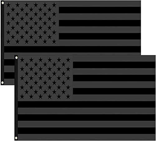 popular All Black lowest American outlet online sale Flag 3x5Ft - Black US Flag Double Stitched Polyester with Brass Grommets for Outdoor Indoor Decoration online