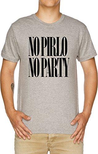 Vendax No Pirlo No Party Camiseta Hombre Gris