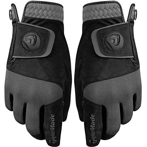 TaylorMade Men's Rain Control Golf Glove, Black, Medium/Large