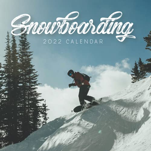 Snowboarding 2022 Calendar: Mini Calendar 2022 with Large Grid for Note - To do list, Gorgeous 7x7'' Small Calendar, Non-Glossy Paper