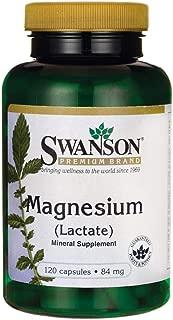 Swanson Magnesium (Lactate) 84 Milligrams 120 Capsules