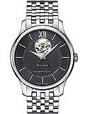 Tissot Men's Tradition Powermatic 80 Open Heart - T0639071105800 Black/Grey One Size