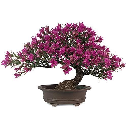 Artificial Bonsai Tree Fake Plants Room Decor for Bedroom Aesthetic and Home Farmhouse Bathroom Decor, Height 9.5'