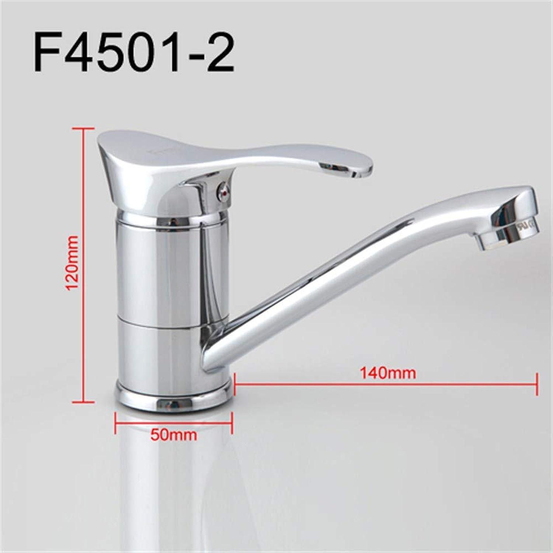 Leohome Küchenarmatur Kalt- und Warmwassermischer 360 Drehung Einhebelmischer F4566-2 F4521-2 F4501-2, F4501-2-140mm
