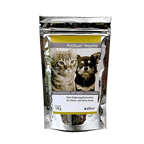 FeliGum®Hepato-Einheit: 120 g-Diät-Ergänzungsfuttermittel für Katzen und kleine Hunde-Zur Unterstützung der Leberfunktion bei chronischer Leberinsuffizienz