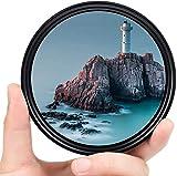 Yangers Filtro de densidad neutra variable 72 mm, variable 2-400 ajustable ND2 hasta ND400 (8 paneles) para cámara réflex digital Canon, Nikon, Sony, con caja de almacenamiento