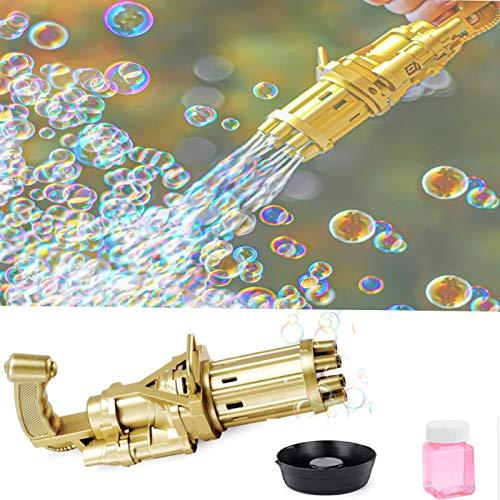 Máquina de Burbujas Gatling, Pistola de Burbujas automática Gatling eléctrica portátil de...