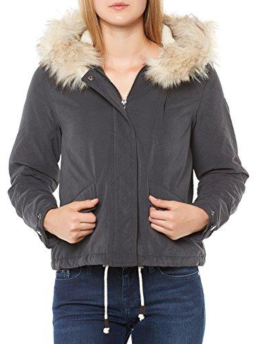 ONLY Damen onlSKYLAR FUR Parka CC OTW Jacke, Blau (Blue Graphite), 42 (Herstellergröße: XL)