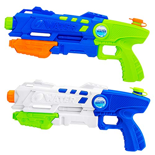 Toybox 2 Pack Super Soaker Water Gun , Water (Squirt) Blaster for Kids. Sprays 30 feet. Great Games for Kids