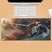 マウスパッドがタイタンに攻撃アニメゲーミングマウスマットデスクマット長い滑り止めゴム耐久性のあるマウスパッド-A_700x300x3mm