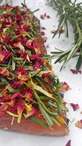 Lachs gebeizt (Graved) mit Rosmarin, Dill und Rose/Nanaminze 1.1kg