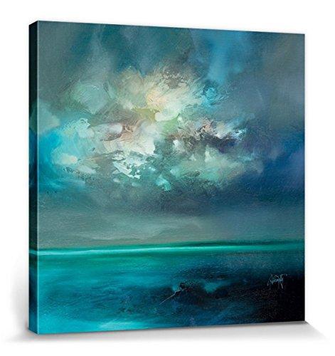 1art1 Scott Naismith - Isle of Skye Emerges Bilder Leinwand-Bild Auf Keilrahmen | XXL-Wandbild Poster Kunstdruck Als Leinwandbild 80 x 80 cm