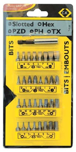 C.K T4520 - Conjunto de clip para puntas de destornillador -