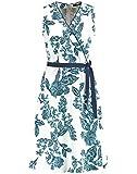 Taifun Damen Gewebe Kleid, Offwhite Gemustert, 38