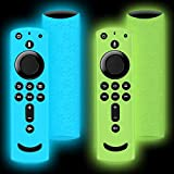 2 Pack for Fire Stick Remote Cover Case, for Fire Stick Remote 4K Case Compatible with 4K Firetv Stick, Remote Control Protection Silicone for Fire tv Remote Cover, Shockproof Firetv Remote Case