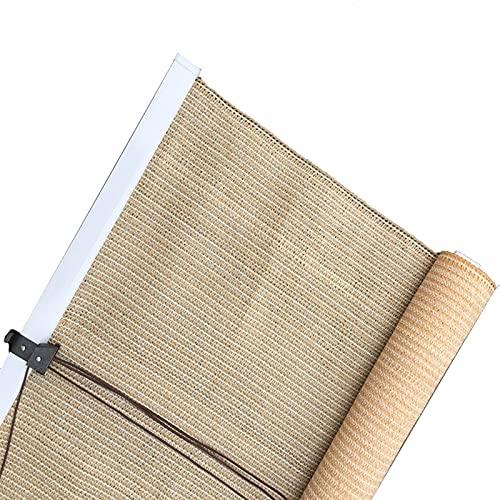 JEVCTCN Persianas para Windows, Color Beige, con Pantalla de privacidad, persianas enrollables, persiana Enrollable de oscurecimiento Exterior para glorieta/Patio/Patio Trasero