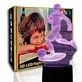 KangYD Futbolista de luz nocturna 3D, lámpara de ilusión LED, regalo para niños, B - Base negra remota (7 colores), Regalo para niña, Decoración del bar, Regalo de Halloween