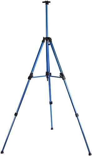 SHWSM Chevalet métallique à hommeivelle Pliable en Alliage d'aluminium, réglable en Hauteur, Facile à Transporter, 4 Couleurs optionnelles chevalet (Couleur   Bleu)