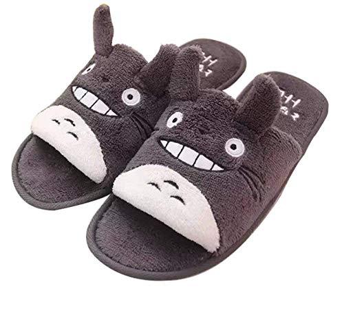 KLHDM Pantuflas Totoro Zapatillas De Felpa Invierno Damas Hombres Zapatillas Cálidos Caseros Casuales Interiores Antideslizantes Zapatillas,003,40/43