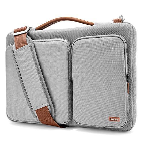 Shopizone Probus Laptop Shoulder Bag for MacBook/Laptop 13.3 Inch Models 360° Protection with Handle and Shoulder Strap (Grey)