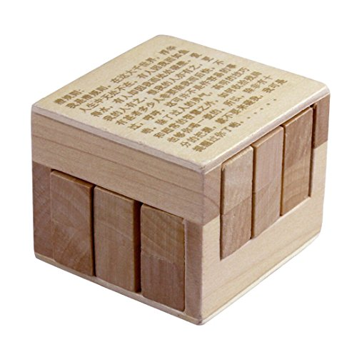 KINGOU Chinese 3D Wooden Inside Story Puzzle Interlocked Burr Puzzles Disentanglement Magic Cube