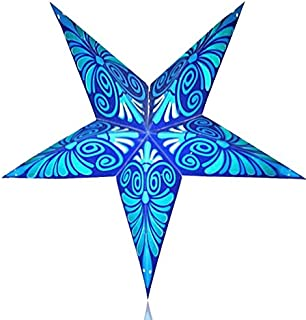 Happy Sales Blue Lightening Paper Star Lantern