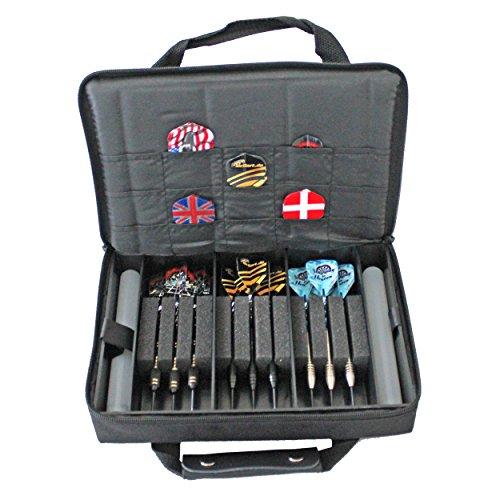McDart Master Tasche mit 9 Steel Dartpfeilen und Zubehör