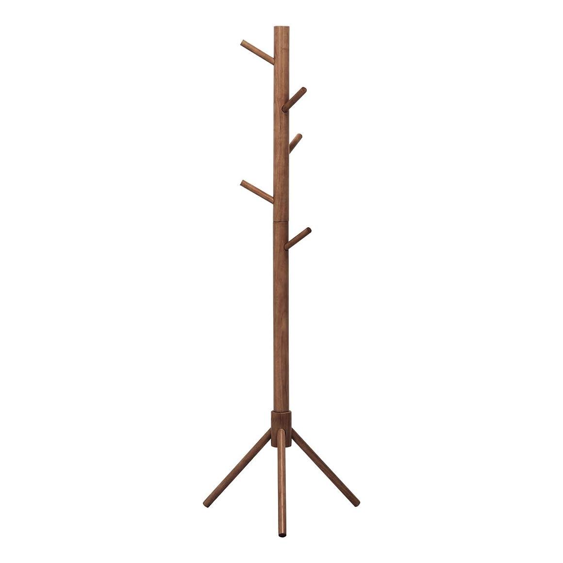 狂った引き算体操不二貿易 コートハンガー 高さ151cm ブラウン LOG 超極太 10786
