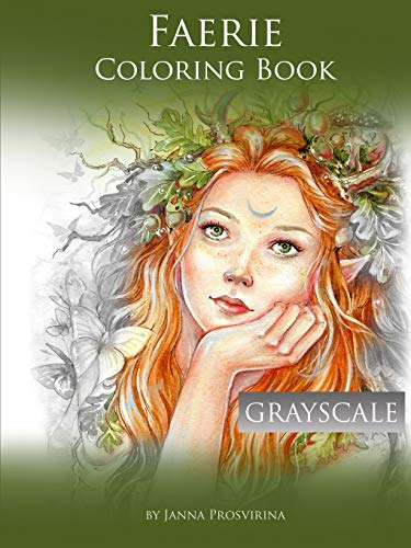 Faerie Coloring Book: Grayscale