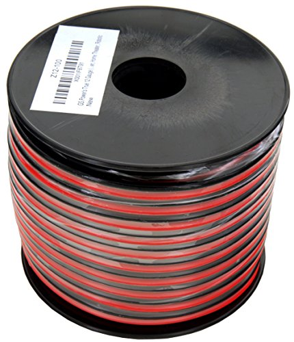 GS Power 100% Copper 12 AWG (American Wire Gauge) 100 Feet Flexible Stranded Red/Black 2 Conductor Bonded Zip Cord for Car Audio Amplifier 12V Automotive Dash Harness LED Light Wiring