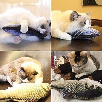Jouet pour Chat,Cataire Jouets Poisson Electronique,Jouet pour chat poisson agitant,USB Rechargeable Remuer Poisson Chat Jouet, Simulé Peluche Poisson, Jouet à Mâcher Interactif