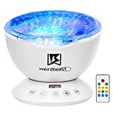 [GENERATION 3]Weirdbeast Remote Control Ocean Wave Project Sleep Night Lights with Built-in Ambient Audio Bedroom Living Room Decoration Lamp for Kids/Adult - Light Up Your Life
