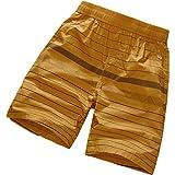 Pantalones Cortos Estampados a Rayas para Hombre Moda de Gran tamaño Relajado Tendencia de la Moda callejera al Aire Libre Sencillo Caminar Pantalones Casuales de Cinco Puntos 4XL