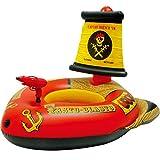 OURLOVE Inflable Gigante del Barco Pirata Flotante Fila Niños Piscina Flotadores Protección del Medio Ambiente De PVC De Seguridad Antivuelco 43 '' * 27 '' * 46 '', Rojo,Watergun