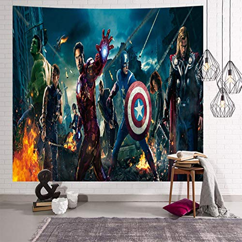 Jingrui Avengers Tapisserie Suspendue Tissu Mural Tissu Tenture Murale Décoration Chambre Salon Spiderman Tenture Murale Fer Homme Tapisserie 004