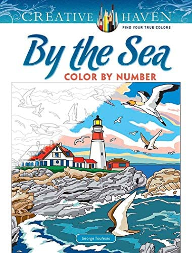 Creative Haven By the Sea Color by Number Creative Haven Coloring Books product image