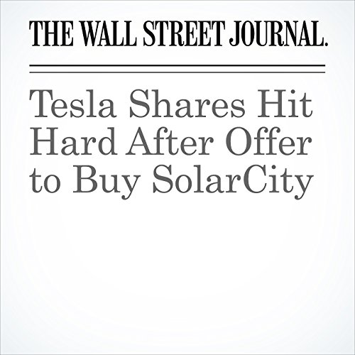 Tesla Shares Hit Hard After Offer to Buy SolarCity audiobook cover art