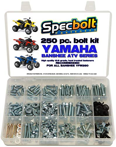 Specbolt Fasteners Bolt Kit: Yamaha - Banshee YFM350 Model Series ATV (250 pc)