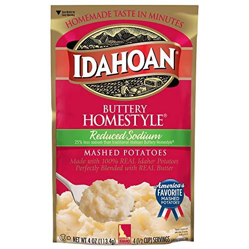 Idahoan Reduktion Natrium Buttery Homestyle Kartoffelpüree, 113 g, 3 Stück