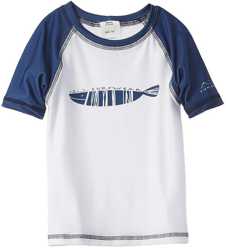 Azul Stripe Fish Rashguard