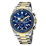 JAGUAR Reloj Modelo J873/1 de la colección Executive, Caja de 46,5 mm Azul con Correa de Acero Bicolor para Caballero