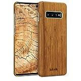 kalibri Funda Compatible con Samsung Galaxy S10 Plus - Carcasa Trasera de bambú - Cover Ultra...